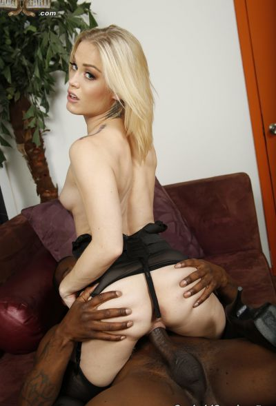Photo №11 Teen blonde Ashley Hollywood gets fucked by a big black dick and creampied