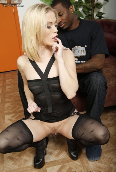 Photo №5 Teen blonde Ashley Hollywood gets fucked by a big black dick and creampied