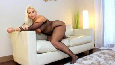 Photo №5 Blonde BBW in a crotchless bodystocking gets fucked by a black man
