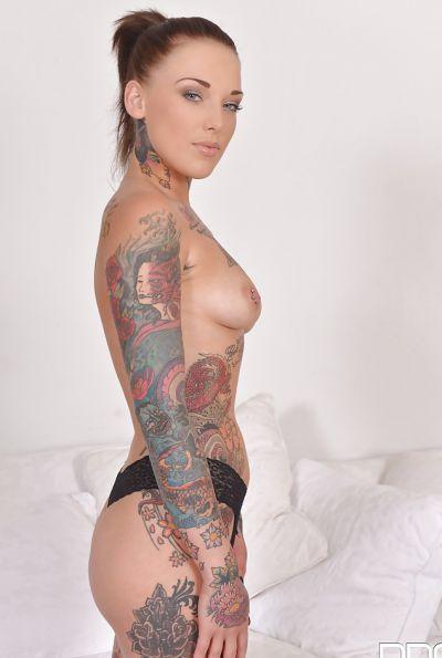 Photo №5 Naked tattooed girl